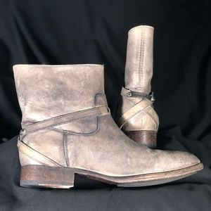 Frye gray leather boot size 11